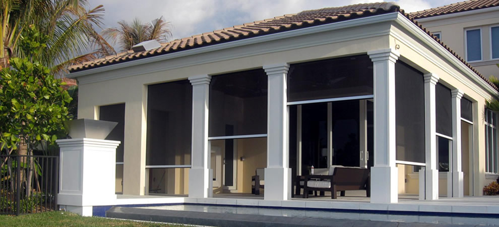 New retractable screens creative cottages inc for Retractable screen porch systems